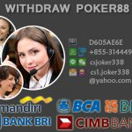 withdraw poker88